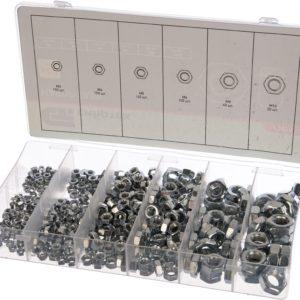 Набор гаек М3 М4 М5 М6 М8 М10 600 предметов СИБРТЕХ