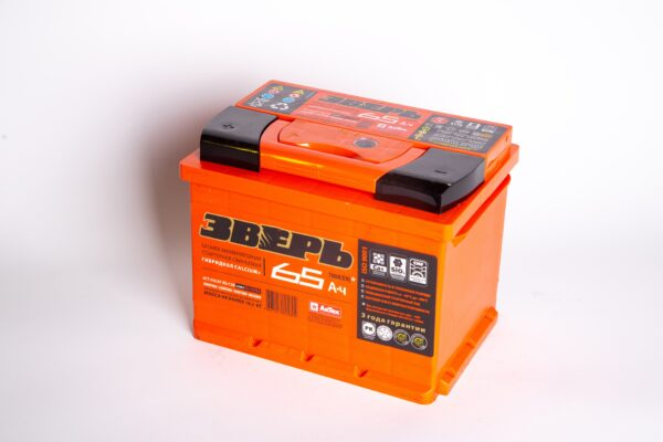 Аккумулятор Зверь 65А/ч прямая L+EN700A 242х175х190 6СТ-65 L3У 6СТ-65,1